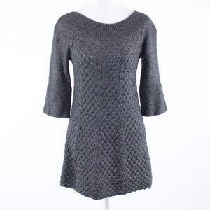 Rebecca Taylor gray 1/2 sleeve sweater dress M